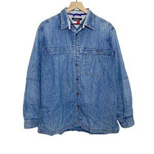 Tommy Hilfiger VTG 90s Denim Button Down Shirt
